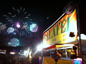 Vegeteria Stall and fireworks